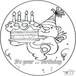 Disegni da colorare Temi - 4º compleanno