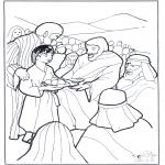 Disegni biblici da colorare - 5 pani e 2 pesci