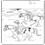 Disegni da colorare Animali - A cavallo 2