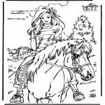 Disegni da colorare Animali - A cavallo 4