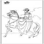 Disegni da colorare Animali - A cavallo 6