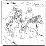 Disegni da colorare Animali - A cavallo