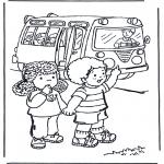 Disegni per i piccini - A scuola 2