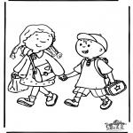 Disegni per i piccini - A scuola 3
