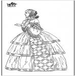 Disegni da colorare Vari temi - Abito classico