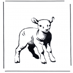 Disegni da colorare Animali - Agnello 2