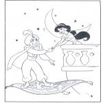 Personaggi di fumetti - Aladino e il suo tappeto magico