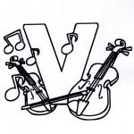 Disegni da colorare Vari temi - Alfabeta musicale V