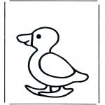 Disegni da colorare Animali - Anatra 1