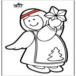 Disegni da colorare Natale - Angelo 7