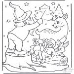 Disegni da colorare Inverno - Animali cantanti