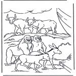 Disegni biblici da colorare - Animali nellarca