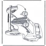 Disegni da colorare Vari temi - Antica macchina 2