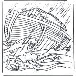 Disegni biblici da colorare - Arca di Noè 2