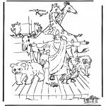 Disegni biblici da colorare - Arca di Noè 3