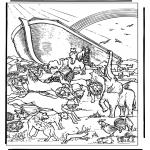 Disegni biblici da colorare - Arca di Noè 4