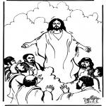 Disegni biblici da colorare - Ascensione 1
