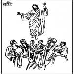 Disegni biblici da colorare - Ascensione 2