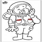 Disegni da colorare Vari temi - Astronauta gatto