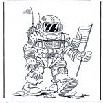 Disegni da colorare Vari temi - Astronauta
