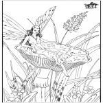 Disegni da colorare Vari temi - Autunno - fate 2