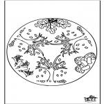 Disegni da colorare Mandala - Autunno - Mandala 1