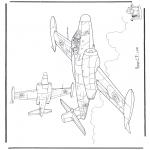 Disegni da colorare Vari temi - Avro CF-100
