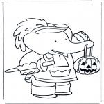 Disegni da colorare Temi - Babar ' halloween