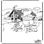 Disegni da colorare Inverno - Babar dinverno