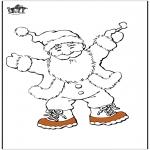 Disegni da colorare Natale - Babbo Natale 13