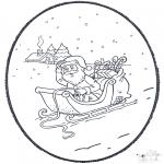 Disegni da bucherellare - Babbo Natale - Disegno da bucherellare