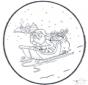 Babbo Natale - Disegno da bucherellare