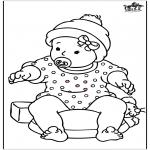 Disegni da colorare Temi - Baby girl 2