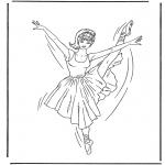 Disegni da colorare Vari temi - Ballerina 1