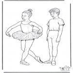 Disegni da colorare Vari temi - Balletto 1