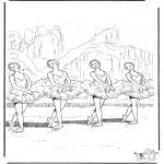 Disegni da colorare Vari temi - Balletto 2