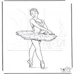 Disegni da colorare Vari temi - Balletto 3
