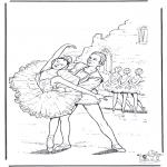 Disegni da colorare Vari temi - Balletto 4