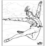 Disegni da colorare Vari temi - Balletto 8