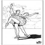 Disegni da colorare Vari temi - Balletto 9