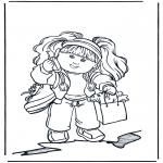 Disegni per i piccini - Bambina con cellulare
