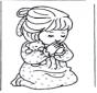 Bambina in preghiera