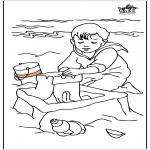 Disegni per i piccini - Bambini al mare