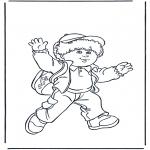 Disegni per i piccini - Bambino con zaino