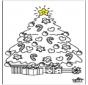 Bambino e albero di Natale 2