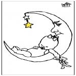 Disegni per i piccini - Bambino e la luna