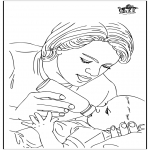 Disegni da colorare Temi - Bambino e la madre 1