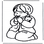 Disegni biblici da colorare - Bambino in preghiera