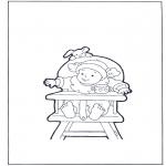 Disegni per i piccini - Bambino in sedia