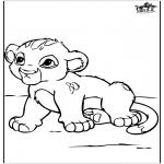 Disegni da colorare Animali - Bambino leone